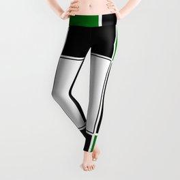 TEAM COLORS 3 ...GREEN,BLACK Leggings