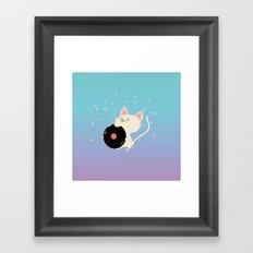 I can't get nooooo catisfaction Framed Art Print