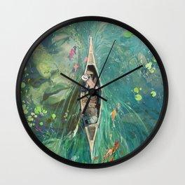 Beneath the Lillies Wall Clock