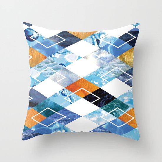 Argyle Aquarium Throw Pillow