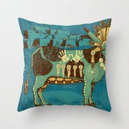 Cowchina Throw Pillow