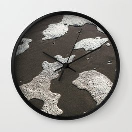 Seafood figures on the beach - travel photography in the netherlands Wall Clock