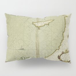A chart of the LEVANT or the sea coast of Egypt, Syria, Caramania and the Island Cyprus Pillow Sham