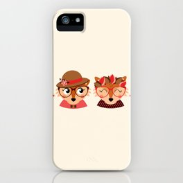 Jumelles renardes iPhone Case