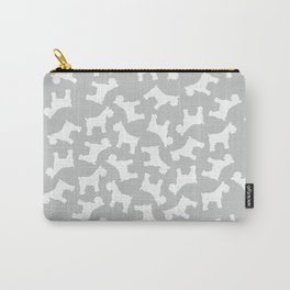Silver Schnauzers - Simple Dog Silhouettes Pattern Carry-All Pouch