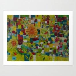 The patchwork Garden Art Print
