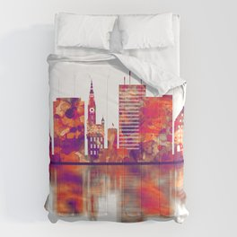 Gdansk Poland Skyline Comforters
