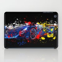 sport iPad Cases featuring sport car by mark ashkenazi
