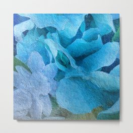 Abstract Floral Turquoise 1864 Metal Print