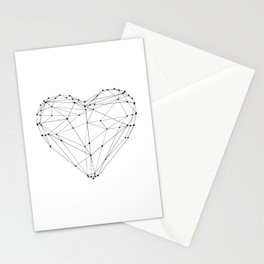 Love Heart Geometric Polygon Drawing Vector Illustration Valentines Day Gift for Girlfriend Stationery Cards