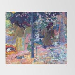 """Paul Gauguin """"Les Baigneuses"""" Throw Blanket"""