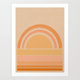 yellow rainbow 4 Art Print