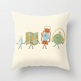 Let's Go On An Adventure Throw Pillow
