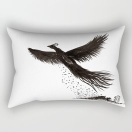 Phoenix rising from the ashes Rectangular Pillow