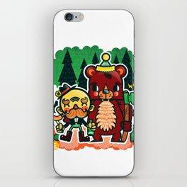 Lumberjack and Friend iPhone Skin