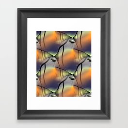 difficult way - pattern -1- Framed Art Print