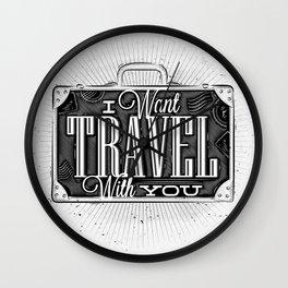 Journey tourist suitcase Wall Clock
