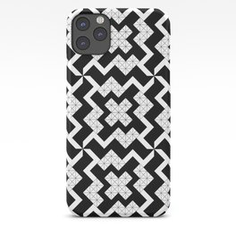 Intricate houndstooth iPhone Case