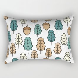 cute pattern illustration with acorns and autumn oak leaves Rectangular Pillow