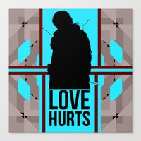 ygritte Canvas Prints featuring Love Hurts Little Lordling by Evil Ice Cream