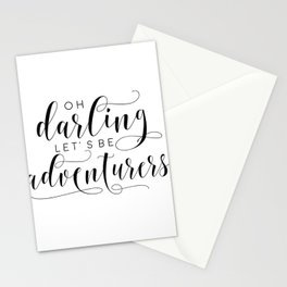 PRINTABLE Art,Oh Darling Lets Be Adventurers,Gift For Women,Gift For Her,Love Sign,Wall Art Stationery Cards