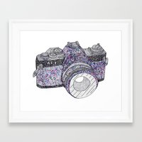 camera Framed Art Prints featuring camera by Dal Sohal