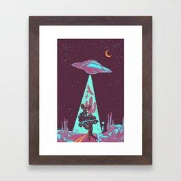 DESERT UFO Framed Art Print