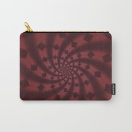 Tess Fractal in Rosewood Carry-All Pouch