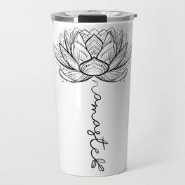 Namaste Lotus Flower Travel Mug