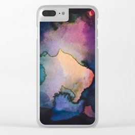 Color layers 3 Clear iPhone Case