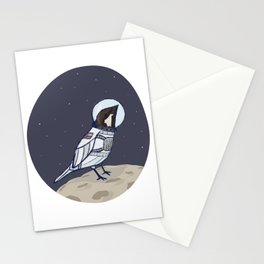 Space Sparrow Stationery Cards