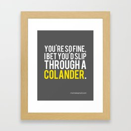 How to Put a Strain on Your Relationship Framed Art Print