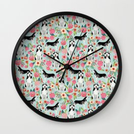 Husky dog breed must have gifts for dog person husky owner presents Wall Clock