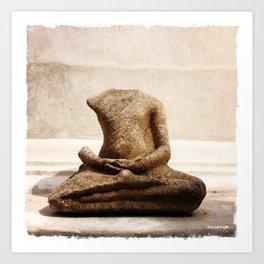 Broken Buddha Statue Art Print