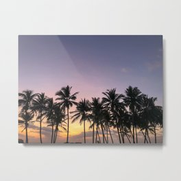Sunset in Sri Lanka Metal Print