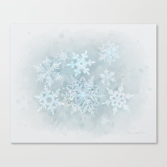 Snow is coming Canvas Print