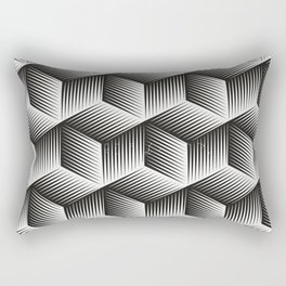 Black And White cuber Rectangular Pillow