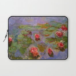 "Claude Monet ""Red Water Lilies"", 1919 Laptop Sleeve"