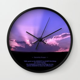 Serenity Prayer - III Wall Clock