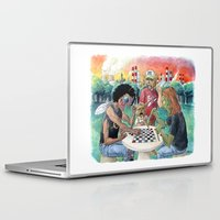 league Laptop & iPad Skins featuring Mutant League Checkers by Justin Smith