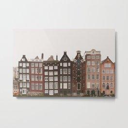 Amsterdam Crooked Row Metal Print