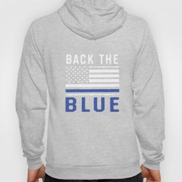 Police Officer Apparel Thin Blue Line American Flag USA Gift Hoody
