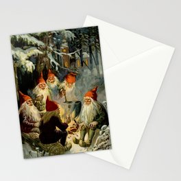 """""""Campfire Cooking"""" Tomten by Jenny Nystrom Stationery Cards"""