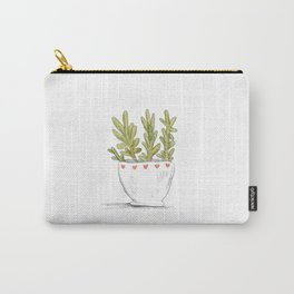 Succulent in Heart Planter Carry-All Pouch
