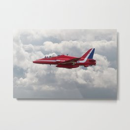 Red Arrows  - HS Hawk Metal Print