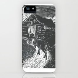 Wolf Going to Grandma's House iPhone Case