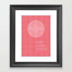 hope japan poster Framed Art Print