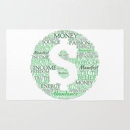 Financial Abundance Word Art Rug