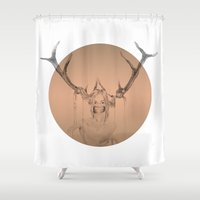 animal crew Shower Curtains featuring ANIMAL by Lua Fraga