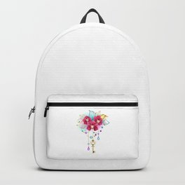 Pink Orchid with Key Backpack